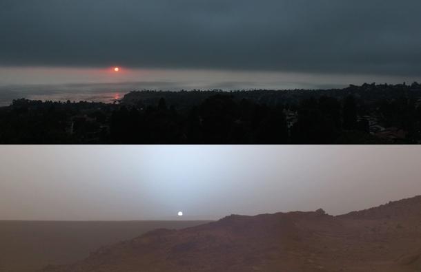 Earth and mars sunset photorator - Mars sunset wallpaper ...