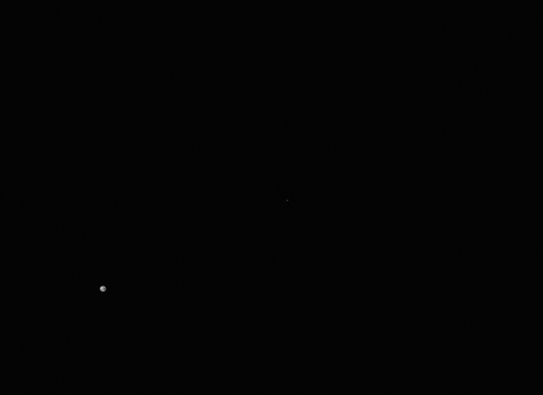 Earth and Moon photographed together on th September  from NASAs OSIRIS-REx spacecraft during her voyage to Asteroid Bennu