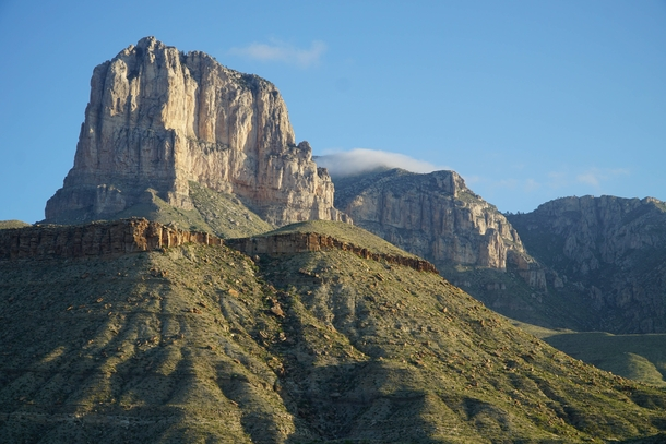 El Capitan just after sunrise Guadalupe Mountains TX OC