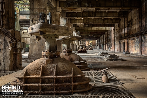 Equipment decaying in a huge abandoned power plant in Germany more in comments