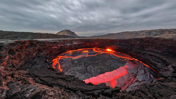 Erta Ale volcano Ethiopia by airpano