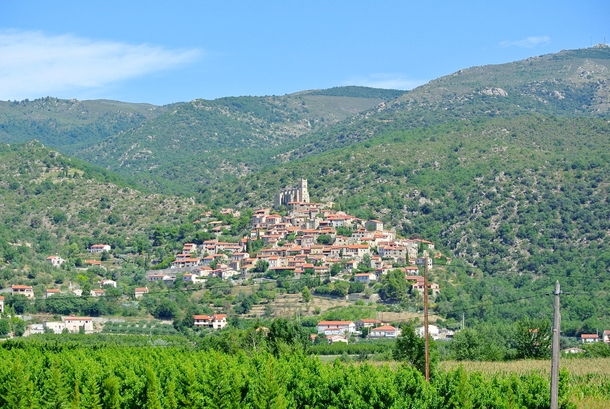 Eus on the Pyreneean foothills is one of the Most Beautiful Village of France Les Plus Beaux Villages de France Catalan Pyrenees region