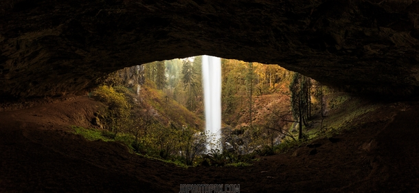 Eye of the Waterfall Silver Falls Oregon  by Jarred Decker jdphotopdxcom