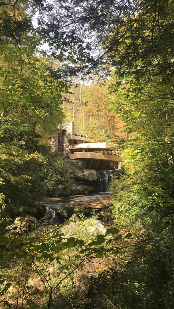 Fallingwater on a crisp October day