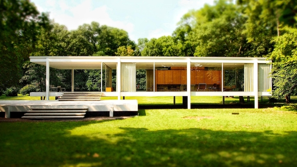 farnsworth house by ludwig mies van der rohe photorator. Black Bedroom Furniture Sets. Home Design Ideas