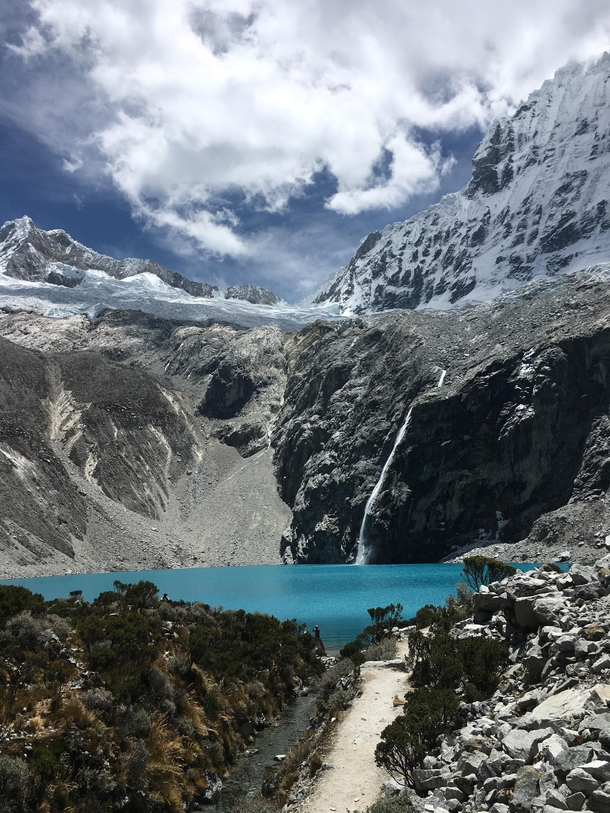 Finished the hike up Laguna  in Huaraz Peru and was not disappointed