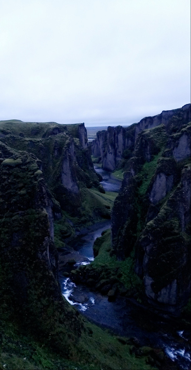 Fjarrgljfur Canyon Iceland Taken at am after a long day of hikes with a torn ACL  worth it