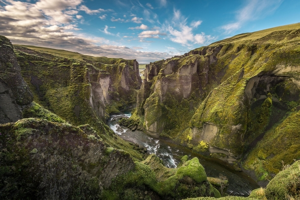 Fjarrgljfur is a canyon in south east Iceland which is up to  m deep and about  kilometres long with the Fjar river flowing through it It is located near the Ring Road not far from the village of Kirkjubjarklaustur Photographer WampAC Visual Arts
