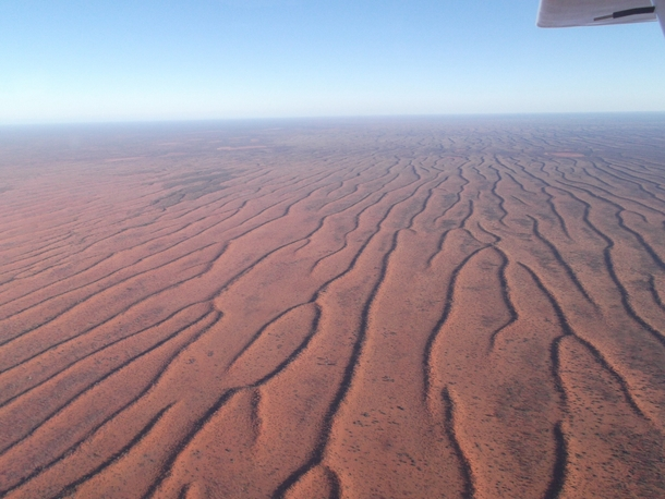 Flying over the Australian outback between Gascoyne Junction and Carnarvon WA