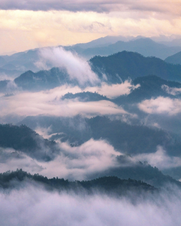Foggy sunrise above the mountains of Chiang Mai Thailand  Instagram worldpins