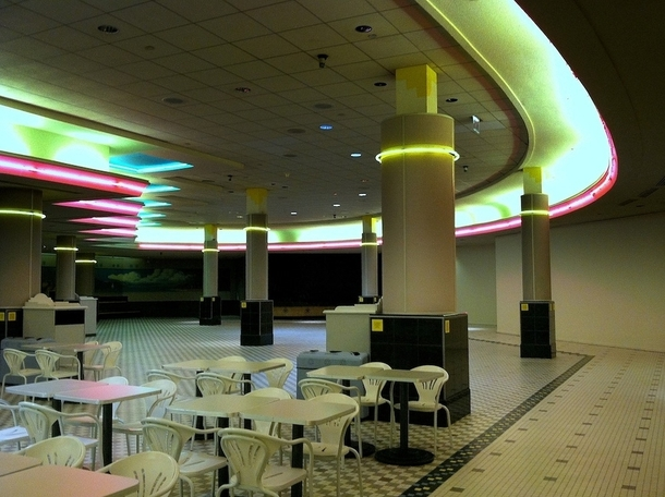 Food court at White Flint Mall North Bethesda MD Now in disuse and scheduled for demolition