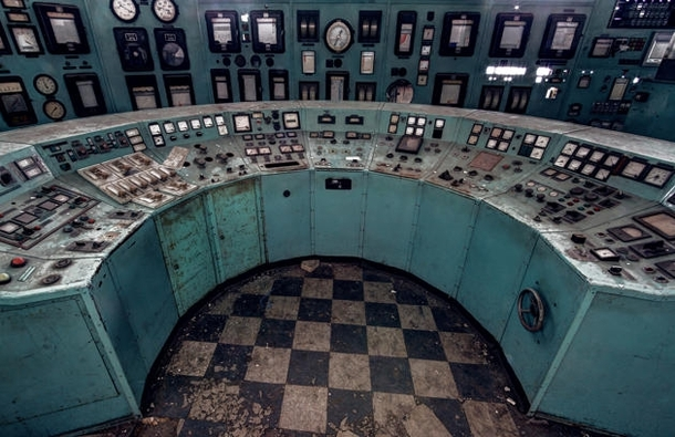 Forgotten power-plant control room central Belgium by Matt Emmett