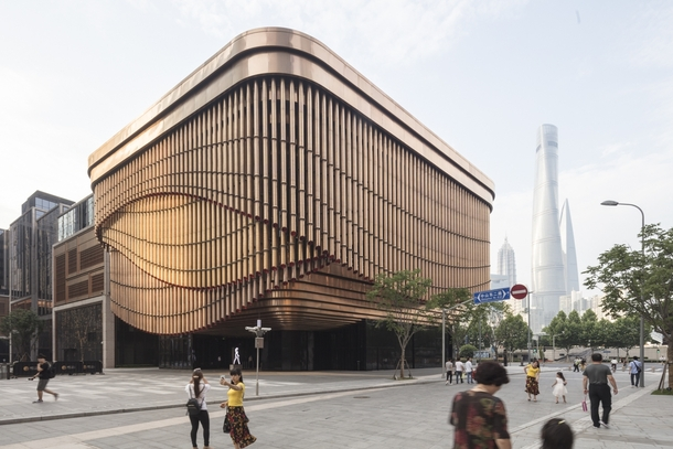 Fosun Foundation a multilevel venue encircled by three layers of mechanical moving veil inspired by the open stages of traditional Chinese theatre Bund Finance Centre complex the Bund Huangpu District Shanghai China