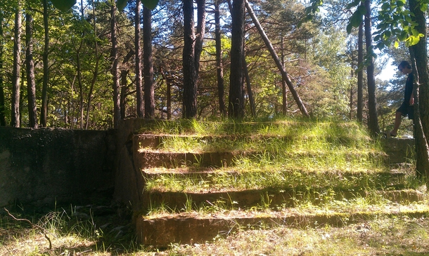 Found these steps in the middle of the woods boromir vs frodo