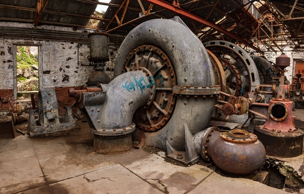 Francis Turbine in a Forgotten Hydroelectric Power Plant