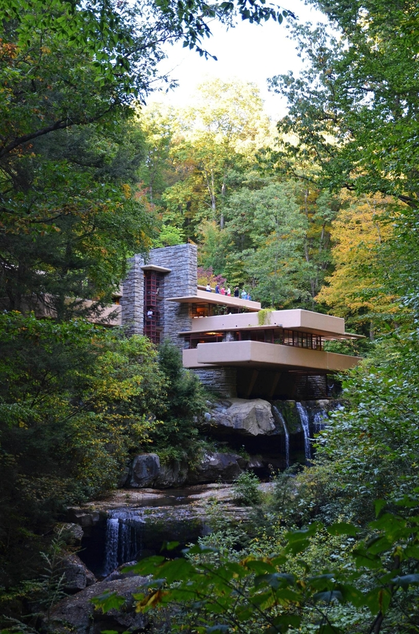 Frank Lloyd Wrights Fallingwater as seen on September    Album in comments