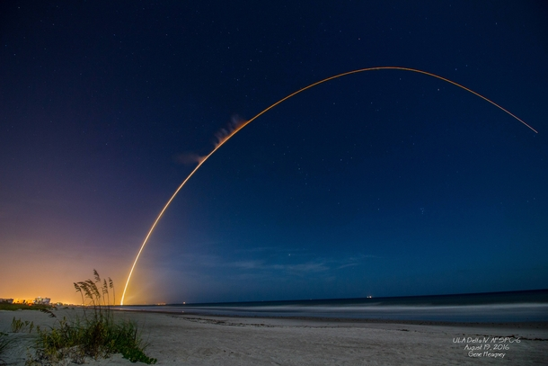 Fridays Delta IV launch as seen from Cocoa Beach FL