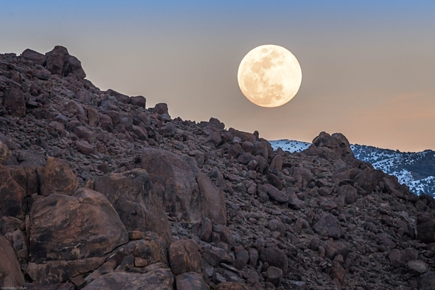Full moon rising over Alabama Hills California  Pic by John Hight