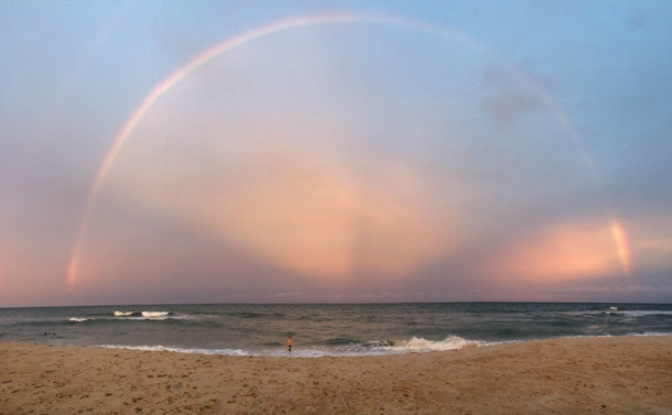 Full Rainbow over the Outer Banks North Carolina  Photo by Hailey Barnhill