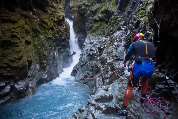 Gloomy Gorge NZ first full descent Story in comments
