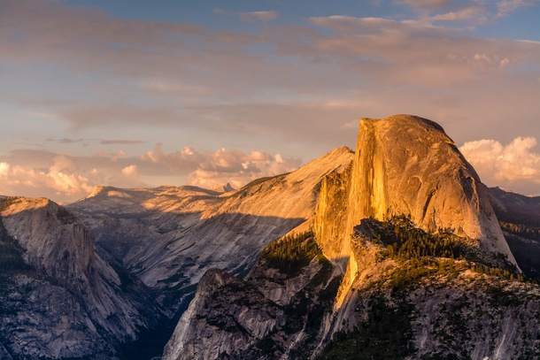 Golden sunset on Half Dome Yosemite OC