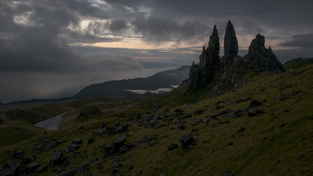 Got up before dawn a few days ago to hike up to The Old Man of Storr in Scotland for sunrise