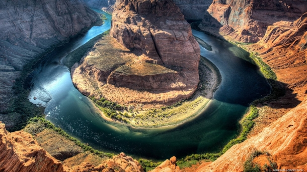 Grand Canyon river horseshoe