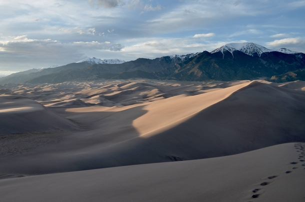 Great Sand Dunes National Park CO at sunset