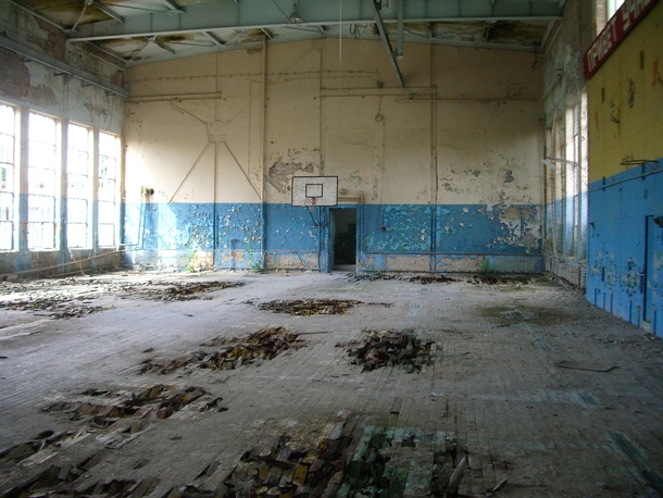Gym of an abandoned russian airfield in Germany