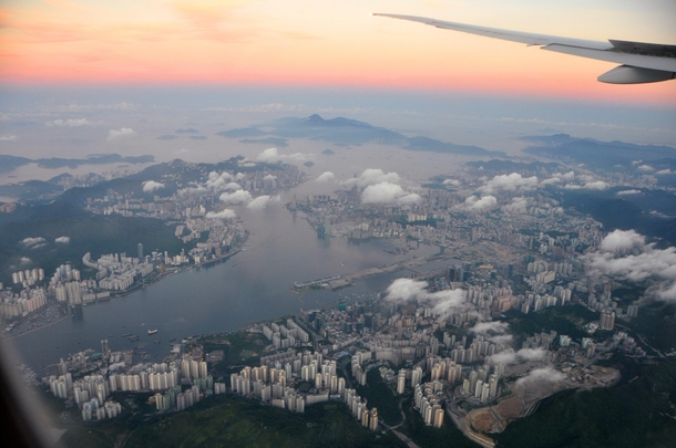 Hanging in the sky above Hong Kong