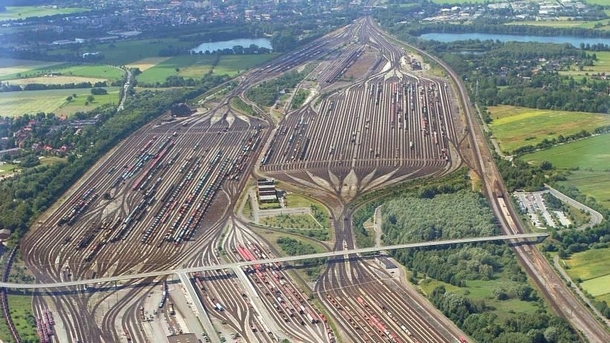 Have a look at these IRL tracks from Maschen Germany Here I thought that my imagination could create railways that were unrealistic