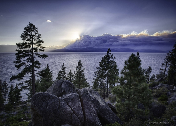 Heaven amp Hell - Smoke from the Northern California Wildfire along Lake Tahoe -  -