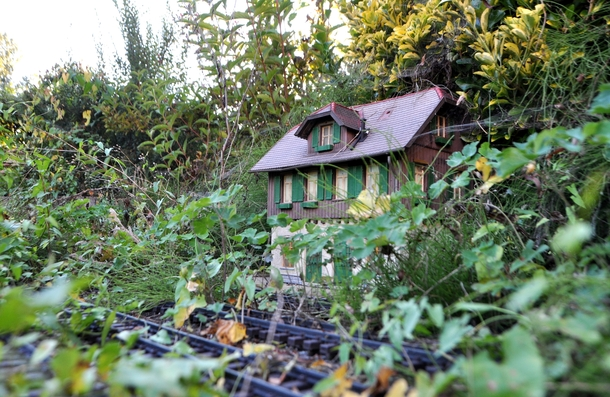 Heres something else An abandoned model train station