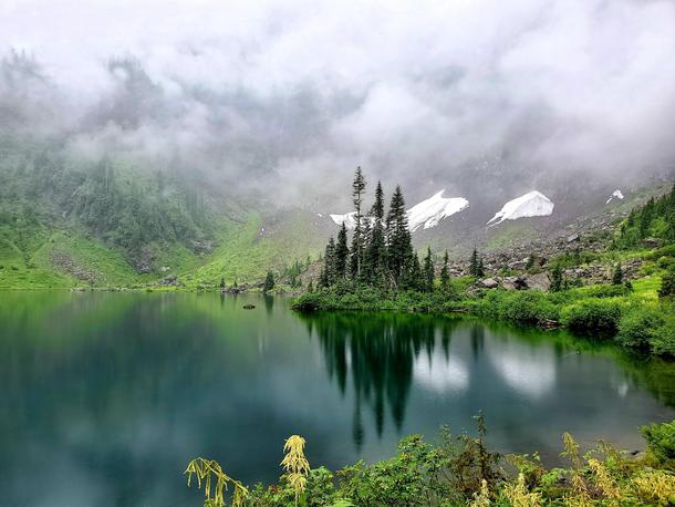 Hidden lake up in the mountains Lake  WA US