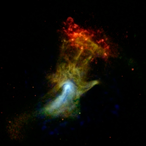 High-Energy X-ray View of Hand of God