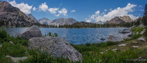 High in the Sierra Nevada Mountains Bullfrog Lake hatches hundreds of new frogs each year when the icy waters thaw