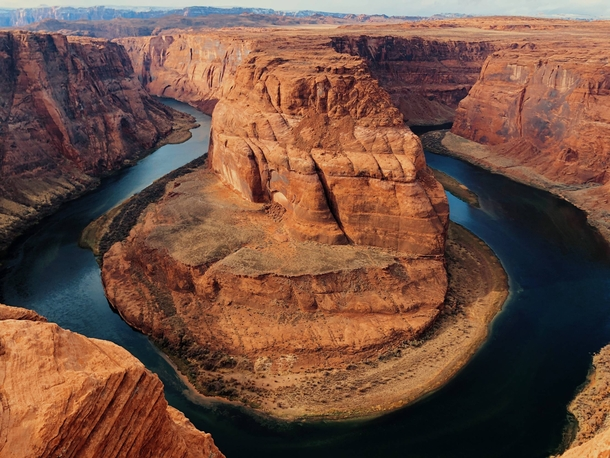 Horseshoe Bend in November If you zoom in to the bottom left corner you can see a ranger station that really shows how grand Horseshoe Bend is