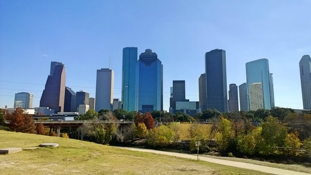 Houston is finally starting to develop city parks with some excellent views of the skyline