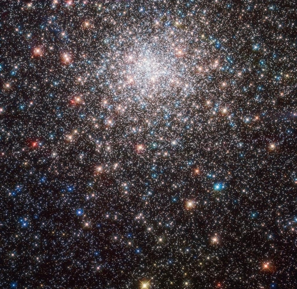 Hubble captured this image of Messier  a globular cluster in the constellation of Sagittarius the Archer It is about  light-years away from Earth