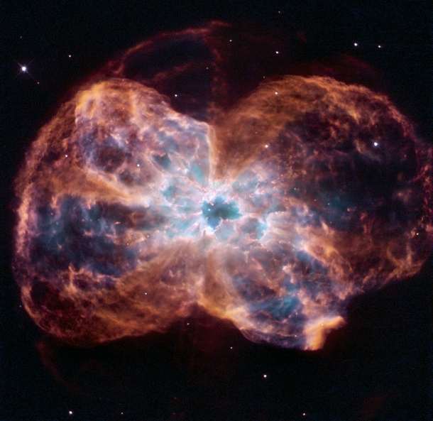 Hubble Views the Demise of NGC  a Sun-like Star