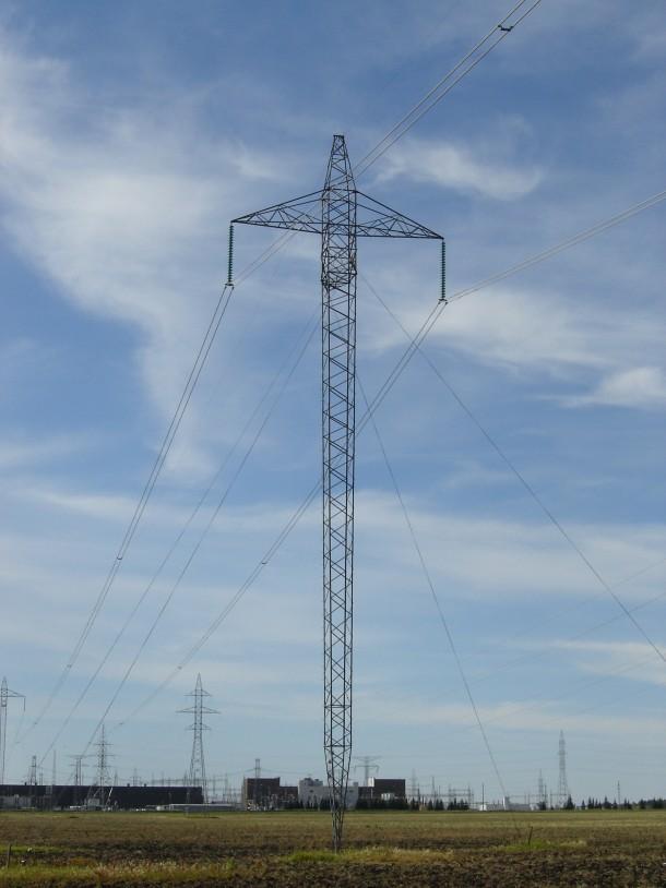 Hvdc Transmission Tower Near The Dorsey Substation Rosser