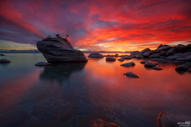 I also heard that Lake Tahoe is popular Heres Bonsai Rock just after sunset  x