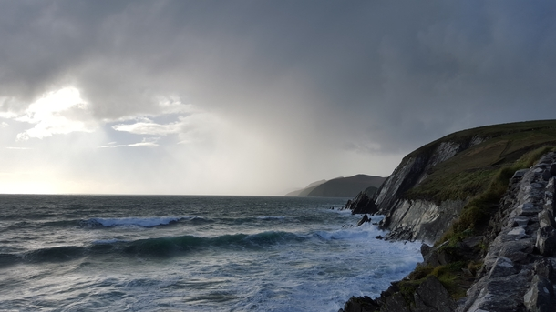 I braved fierce winds big waves and a tourist bus blocking the road to get this picture on the Wild Atlantic Way Co Kerry xOC