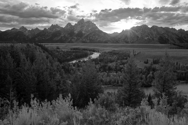 I felt VERY small standing in the same place Ansel Adams once stood and shot arguably the most important landscape photograph in history Snake River Overlook Grand Teton National Park WY