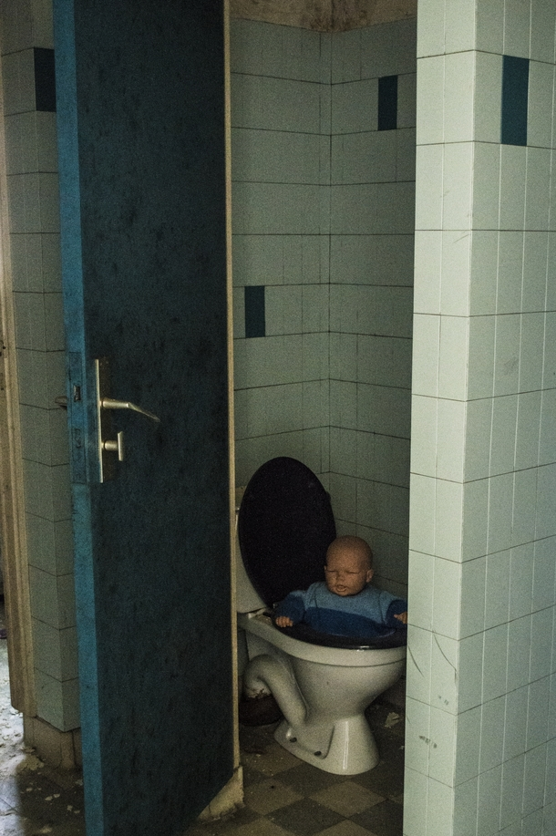 I found a baby in the toilet of an abandoned asylum