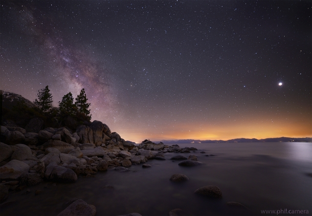 I got up at am to catch the Blood Moon lunar eclipse this morning on the east shore of Lake Tahoe