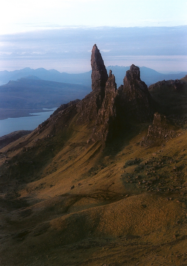 I lugged my medium format camera up to the Old Man of Store Isle of Skye Scotland