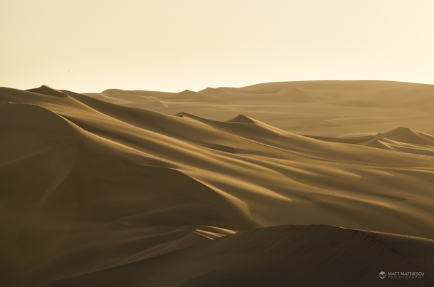 I was fortunate enough to capture the Sand Dunes of Ica Peru at Sunset