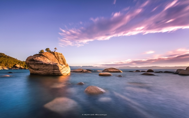 I was lucky enough to watch this amazing sunset from Bonsai Rock in beautiful Lake Tahoe
