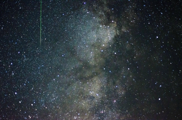 I was shooting photos of the Milky Way and a Meteor shot in front of my camera x